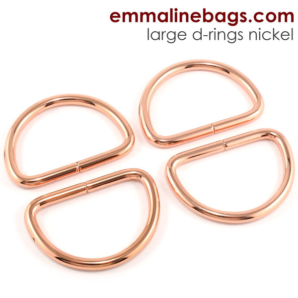 "D Rings- 1"" -1/2"" (38mm) Rose Gold/ Copper"