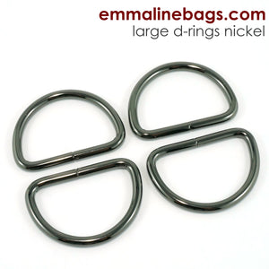 "D Rings- 1"" -1/2"" (38mm) Gunmetal"