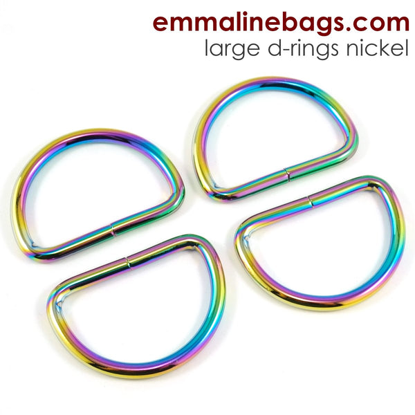 "D Rings- 1"" -1/2"" (38mm) Rainbow"
