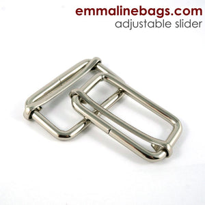 "Adjustable Sliders - Nickel Finish 1 1/2"" (38mm)"