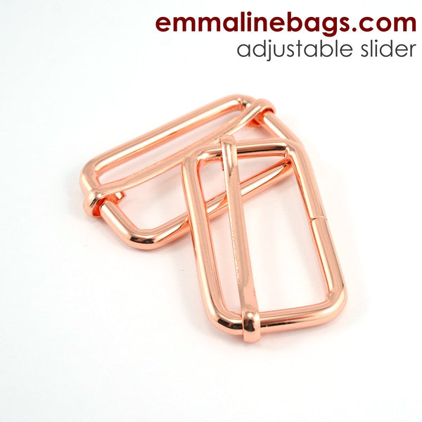"Adjustable Sliders - 1 1/2"" (38mm) Rose Gold/ Copper"