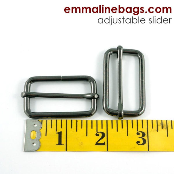 "Adjustable Sliders - Gunmetal 1 1/2"" (38mm)"