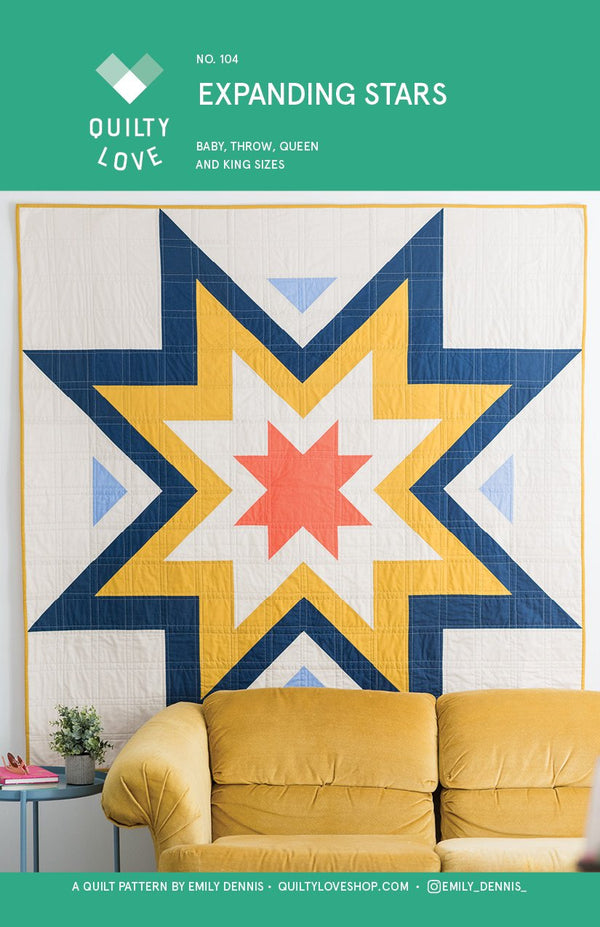 Expanding Stars Quilt Pattern by Emily of Quilty Love
