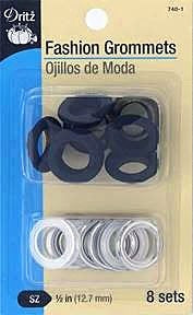 "Fashion Grommets 1/2"" Black"
