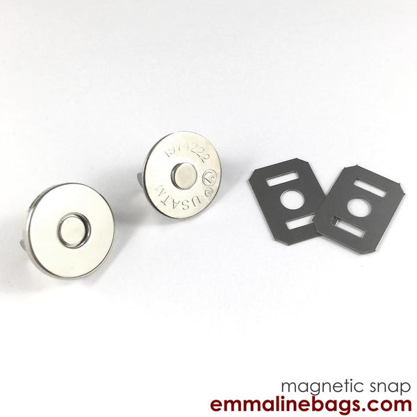 Magnetic Snap Closures: (18 mm) Nickel Finish pack of 2