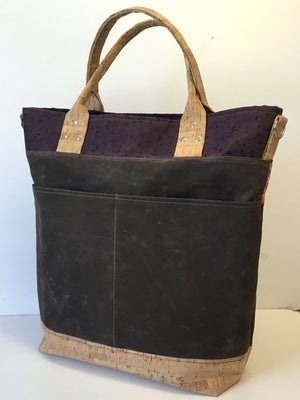 The Waterlily Waxed Canvas Tote - Pattern