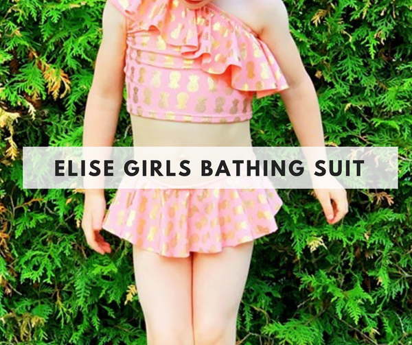 Elise Girls Bathing Suit - July 21st - Weekend