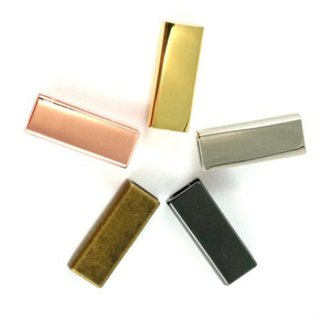 "Rectangle Strap End Caps (1"" wide) 4 pack - Antique Brass"