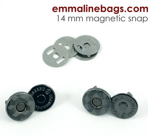 Magnetic Snap Closures: (14 mm) Gunmetal Finish pack of 2