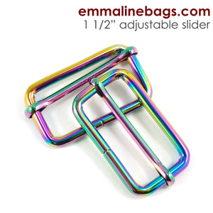 "Adjustable Sliders - 1 1/2"" (38mm) Rainbow"