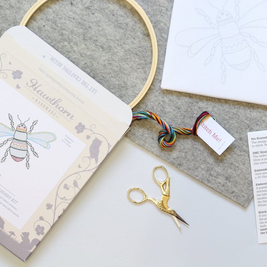 Bee Contemporary Embroidery Kit