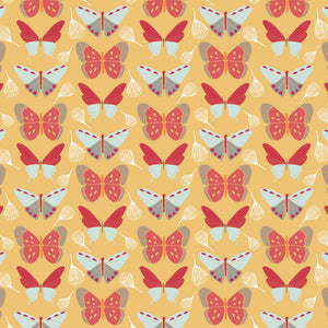 Sweet Bee Designs- Fly - Yellow Butterflys - 1/4M