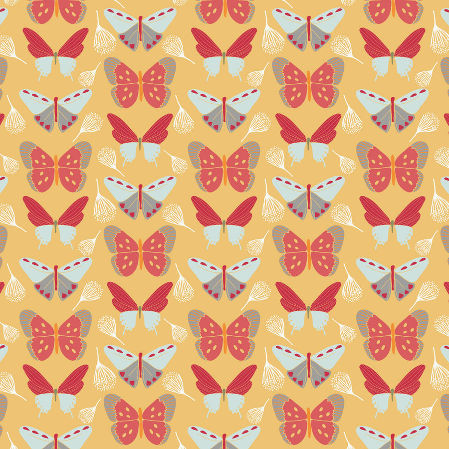 Sweet Bee Designs- Fly - Yellow Butterflys
