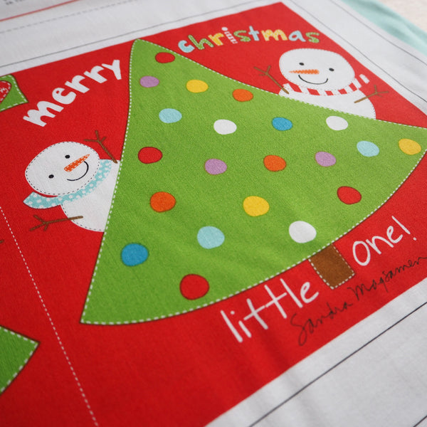 Merry Christmas Little One Book Panel- SALE