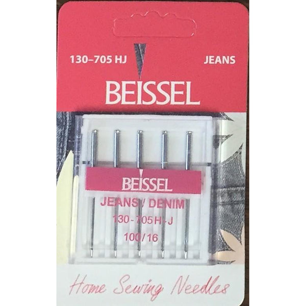 Beissel Sz 100 Denim/Jeans Machine Needles, 5 Count