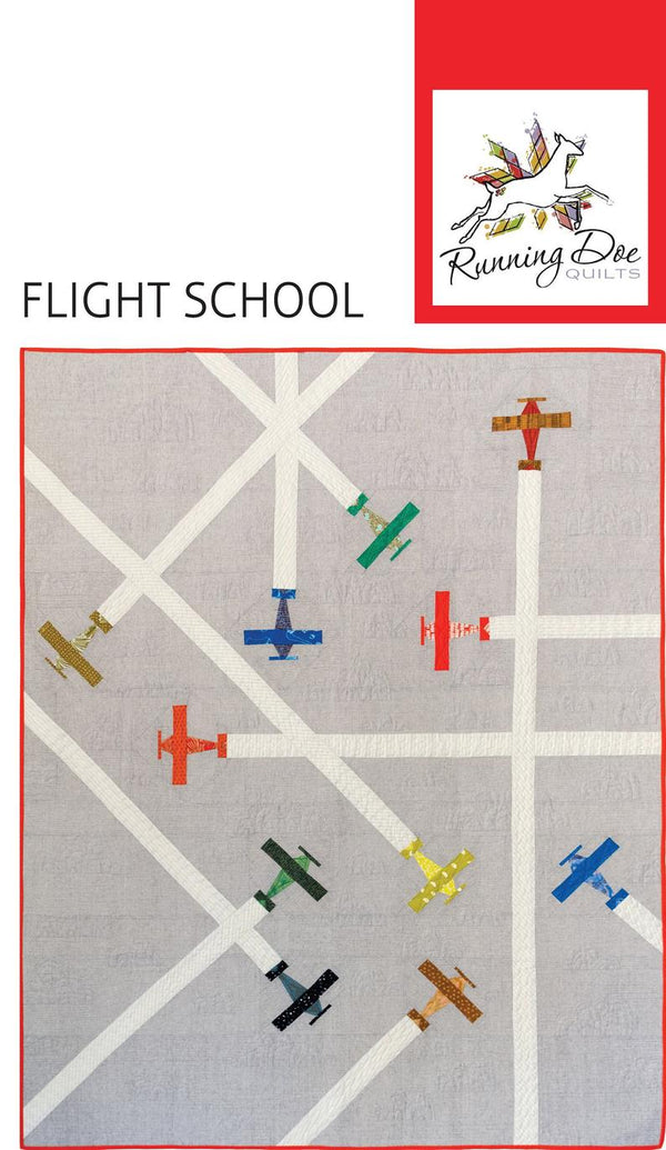 Airplane Quilt Pattern KIT - Flight School