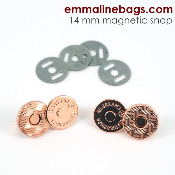 Magnetic Snap Closures: (14 mm) Rose Gold Finish pack of 2