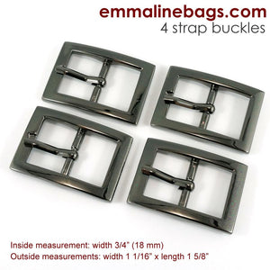 "Buckles- 3/4"" (18mm) Gunmetal"
