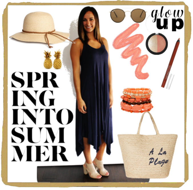 Spring Into Summer with Sweet P's Navy Blue Maxi Dress!