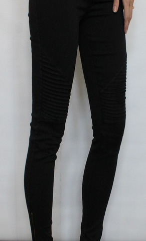 Black or Midnight Blue Moto Stretch Jeggings with Zippers