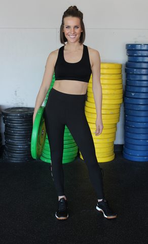 Supersoft Black Workout Pants with Lace-Up Detail