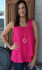 Fuchsia or Light Pink Ruffle Back Tank