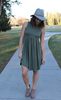Olive Green Stretchy Tank Dress