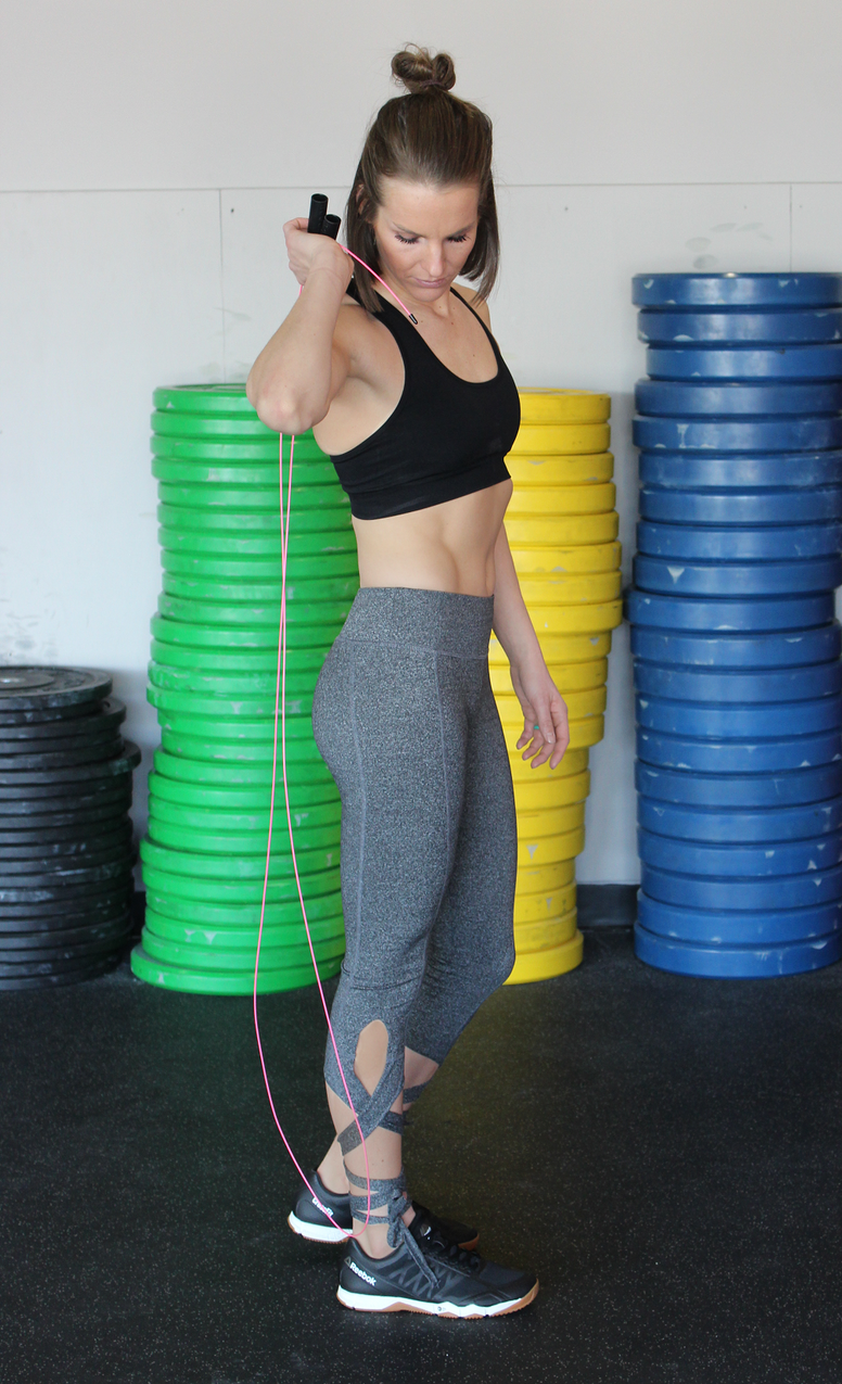 Grey Lace-Up Bottom Workout Pants