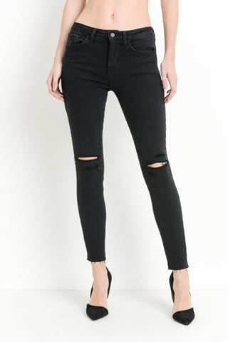 Just Black Distressed Black Jeans