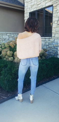 Blush Boat Neck Soft Sweater