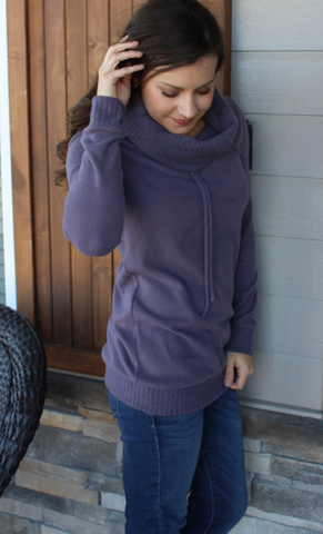 Eggplant Super Soft Cowl Neck Tunic