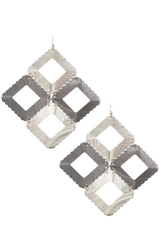 Square Link Dangle Earrings
