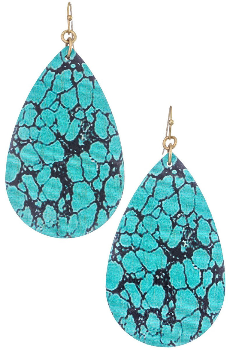 Semiwood Teardrop Earrings