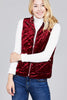 Burgundy or Olive Quilted Velvet Vest