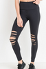 Highwaist Laser-Cut Workout Leggings
