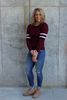 Burgundy Ribbed Sweater