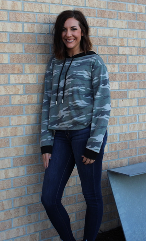 Camo French Terry Long Sleeve Hoodie