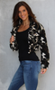 Cropped Camo Fleece Jacket