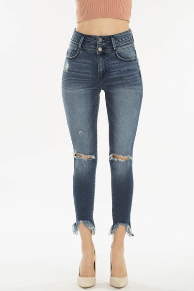 KanCan High Rise Cropped Jeans