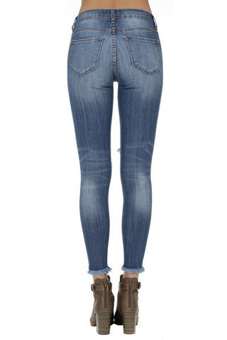 KanCan Mid Rise Distressed Jeans