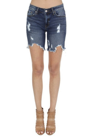 KanCan Distressed Jean Shorts