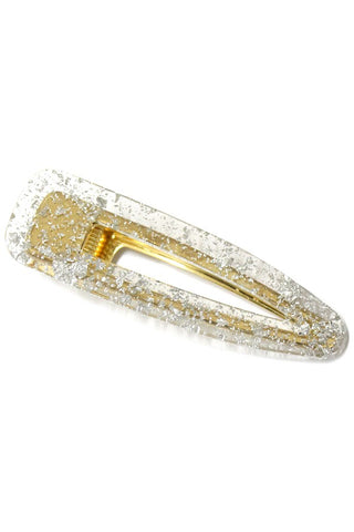 Acylic Hair Clip with Metallic Flakes