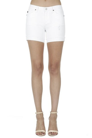 KanCan White Jean Shorts