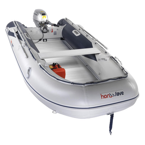 Honda Honwave 4.0m Aluminium Floor & Air Keel Inflatable Dinghy - 7 Persons