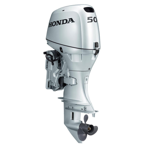 Honda 50hp 4-Stroke Outboard Engine with Short Shaft, Electric Start, Tachometer, Power Trim & Tilt