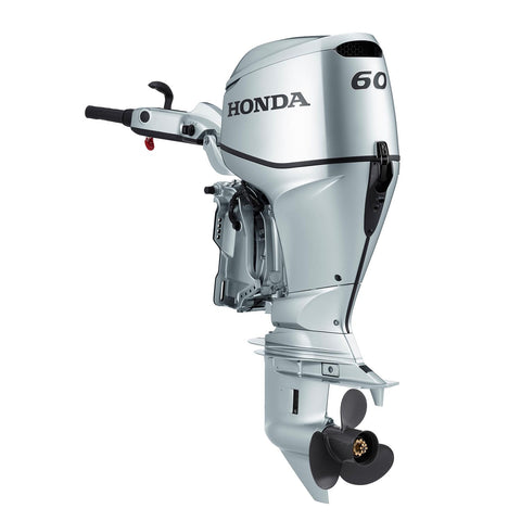 Honda 60hp 4-Stroke Outboard Engine with Long Shaft, Power Thrust, Electric Start, Remote Control, Power Trim & Tilt