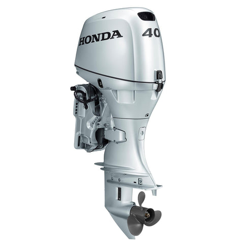 Honda 40hp 4-Stroke Outboard Engine with Long Shaft, Electric Start, Tachometer, Power Trim & Tilt