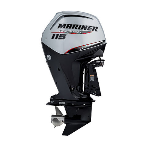 Mariner 115hp 4-Stroke Outboard Engine with Long Shaft, Electric Start, Remote Control, Command Thrust, Power Trim & Tilt