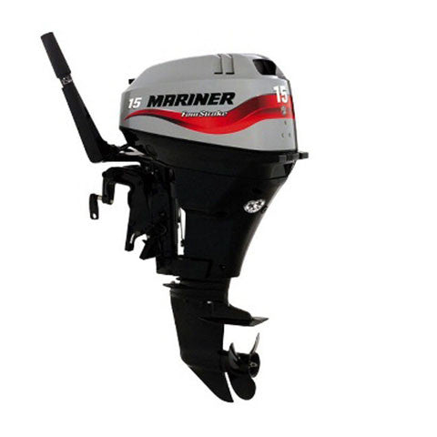 Mariner 15hp 4-Stroke Outboard Engine with Long Shaft & Tiller Handle