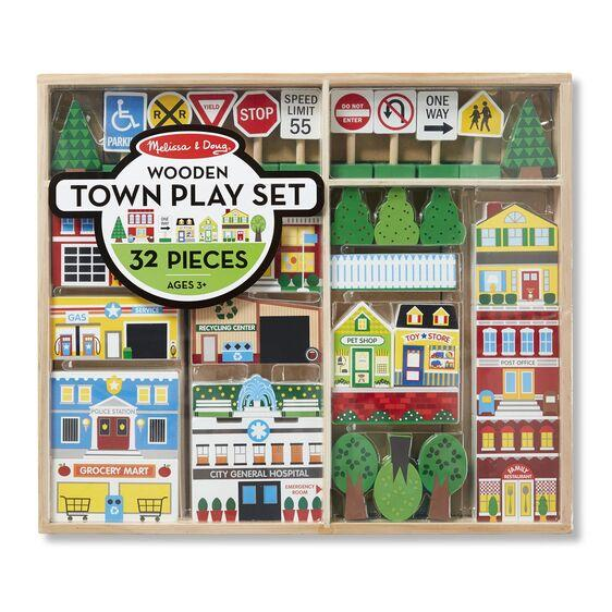 Wooden Town Play Set Melissa & Doug®